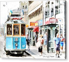 Historic Stockholm Tram Acrylic Print