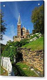 Historic Stone Church Harper's Ferry Acrylic Print by Mark VanDyke