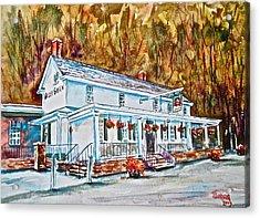 Historic Valley Green Inn Acrylic Print by Joyce A Guariglia