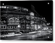 Historic Wrigley Field Acrylic Print by Andrew Soundarajan