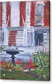 Acrylic Print featuring the painting Historical Society Garden by Jan Byington
