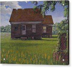 Historical Warrenton Farm House Acrylic Print by Peter Muzyka