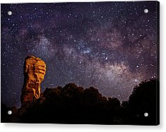 Hitchcock Pinnacle Nightscape -- Milky Way Acrylic Print