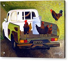 Hitchin' A Ride To Town Acrylic Print by JoeRay Kelley