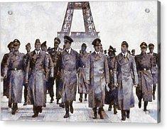 Hitler In Paris Acrylic Print by Esoterica Art Agency