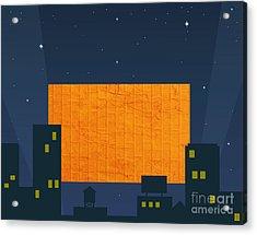 Hitting A Brick Wall Is Nite Life Acrylic Print by Marsha Heiken