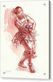 Hiva, Dancer Of Tonga Acrylic Print by Judith Kunzle