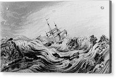 Hms Dorothea Commanded By David Buchan Driven Into Arctic Ice Acrylic Print