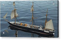 Hms Warrior 1860 - Stern To Bow Ocean Acrylic Print by Christopher Snook