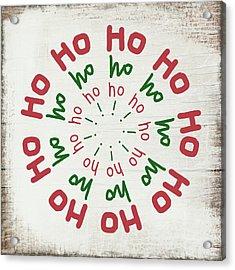 Ho Ho Ho Wreath- Art By Linda Woods Acrylic Print