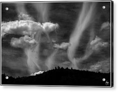 Acrylic Print featuring the photograph Hobart Hill Monochrome by Wayne King