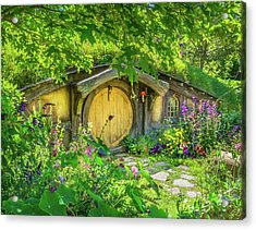 Hobbit Cottage Acrylic Print