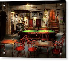 Acrylic Print featuring the photograph Hobby - Pool - The Billiards Club 1915 by Mike Savad