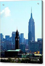 Hoboken And New York Acrylic Print by James Aiken