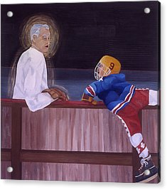 Hockey God Acrylic Print by Ken Yackel
