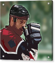Hockey Illustration Acrylic Print by Lucas Armstrong