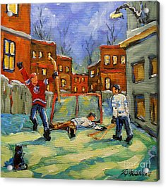 Hockey Kids He Scores Acrylic Print