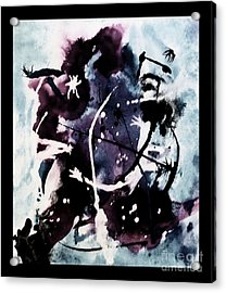 Hockey Player  Acrylic Print by Marsha Heiken