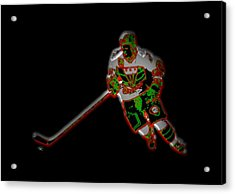 Hockey Player Acrylic Print