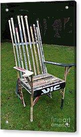 Hockey Stick Chair Acrylic Print