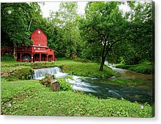 Hodgson Water Mill And Spring Acrylic Print by Cricket Hackmann
