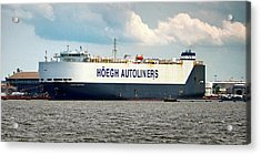 Acrylic Print featuring the photograph Hoegh Autoliners Heogh Maputo 9431850 At Curtis Bay by Bill Swartwout Fine Art Photography