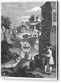 Hogarth: False Perspective Acrylic Print by Granger