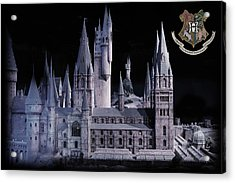 Acrylic Print featuring the mixed media Hogwards School  by Gina Dsgn