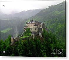 Hohenwerfen Castle Acrylic Print by Sheila Ping