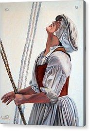 Hoisting Sails Acrylic Print