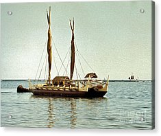 Hokulea - Voyaging Canoe Acrylic Print