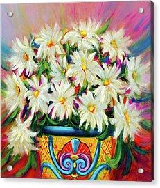 Hola Daisies Acrylic Print
