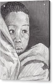 Acrylic Print featuring the drawing Hold Me Mom by Jean Haynes