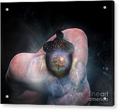 Hold On To Your Future Acrylic Print by Carrie Jackson