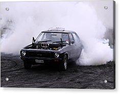 Holden Monaro Doing A Burnout Acrylic Print by Stephen Athea