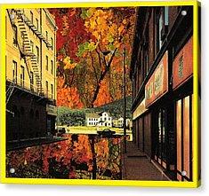 Holden Street Acrylic Print by Gabe Art Inc