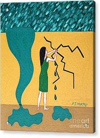 Holding Back The Flood Acrylic Print by Patrick J Murphy