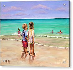 Holding Hands Acrylic Print by Patricia Piffath