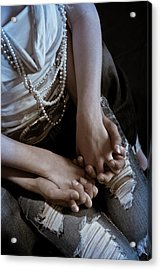 Holding Hands Acrylic Print by Scott Sawyer