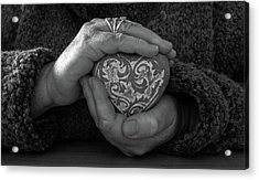 Holding My Heart In My Hands Acrylic Print