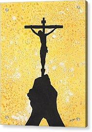 Holding The Holy Cross Acrylic Print