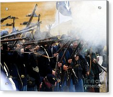 Holding The Line At Gettysburg Acrylic Print by David Lee Thompson