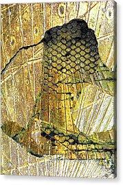 Acrylic Print featuring the mixed media Hole In The Wall by Tony Rubino