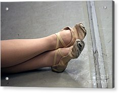 Holes In Dance Shoes Acrylic Print