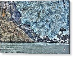 Holgate Glacier Hdr Acrylic Print by Richard J Cassato