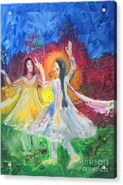 Holi-festival Of Colors Acrylic Print