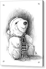 Acrylic Print featuring the drawing Holiday Bear by Joe Winkler