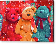 Acrylic Print featuring the photograph Holiday Bears by Diane Alexander