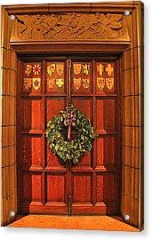 Holiday Door Acrylic Print by Dan Sproul