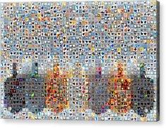 Holiday Hearts Dreidels Acrylic Print by Boy Sees Hearts